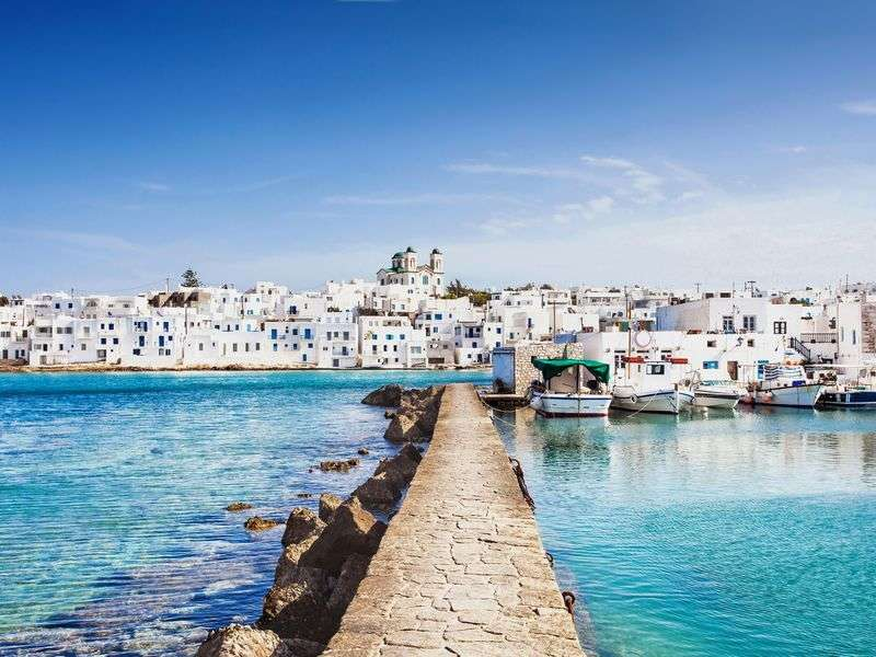 ports and islands in Paros