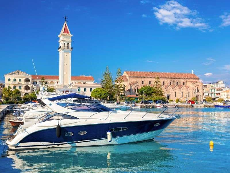 Boats in Zakynthos