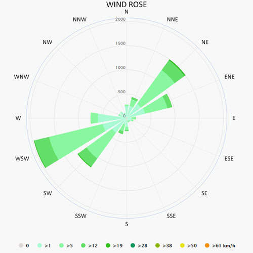 Wind rose in Messolonghi