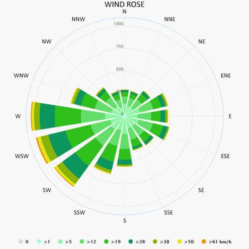 Wind rose in Wentdorf