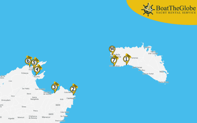 Sailing Itinerary Ciutadella