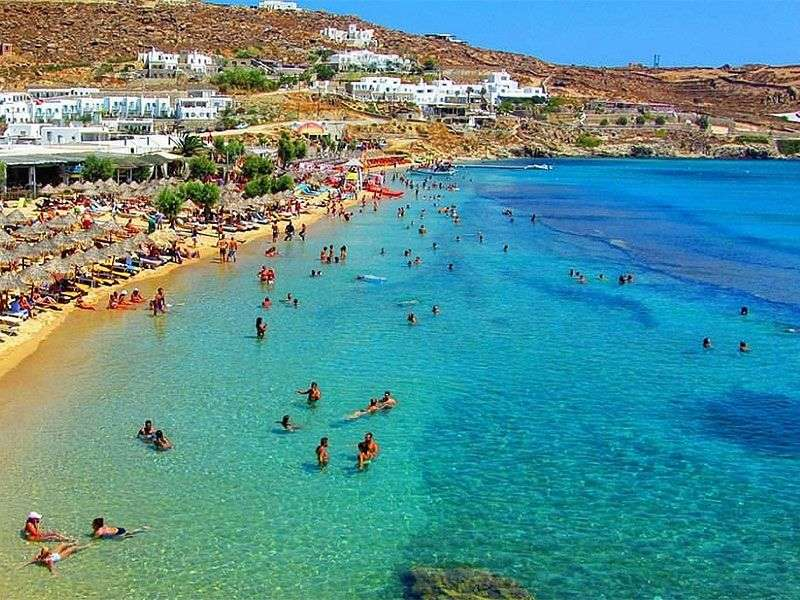 beaches in Mykonos