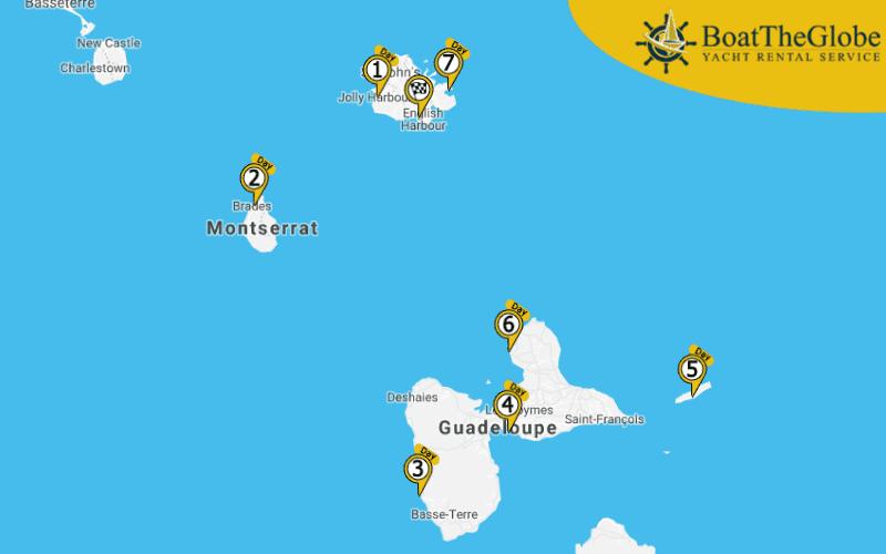 Antigua sailing tours