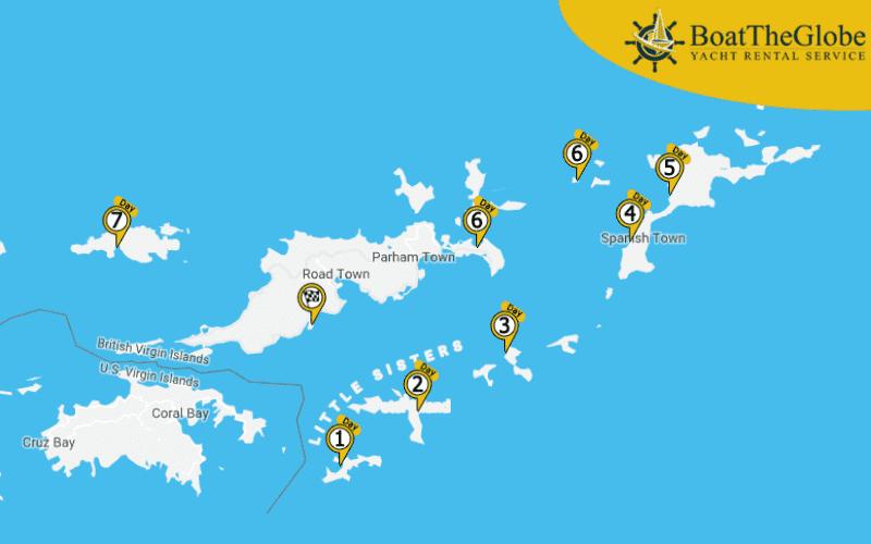 BVI Sailing Itinerary Tortola