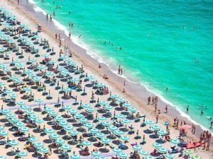 Beach of Italian Riviera
