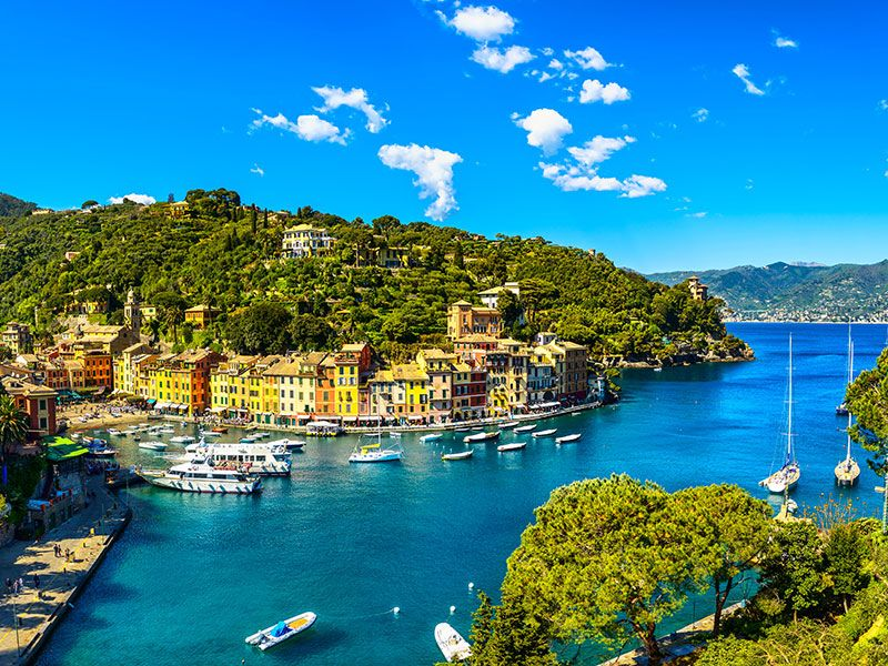 Sailing in Italian Riviera