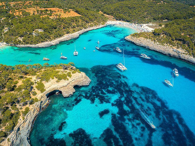 Split sailing itinerary