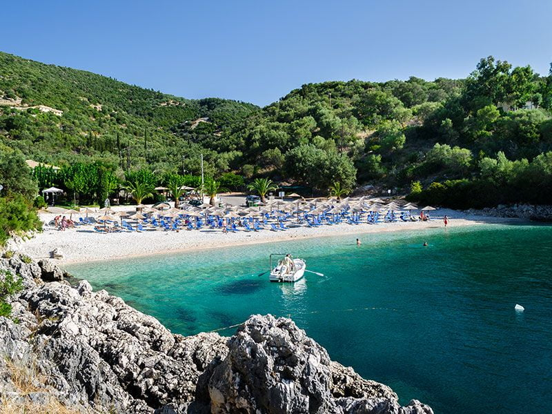 Boat in Ionian Sea