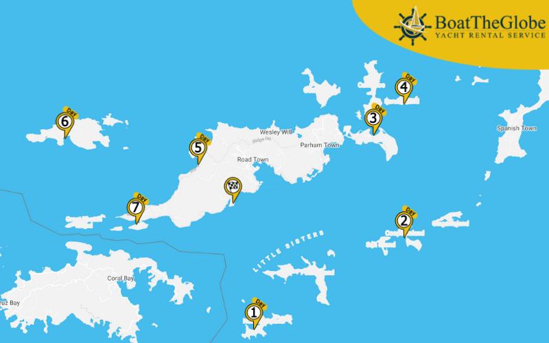Tortola sailing itinerary