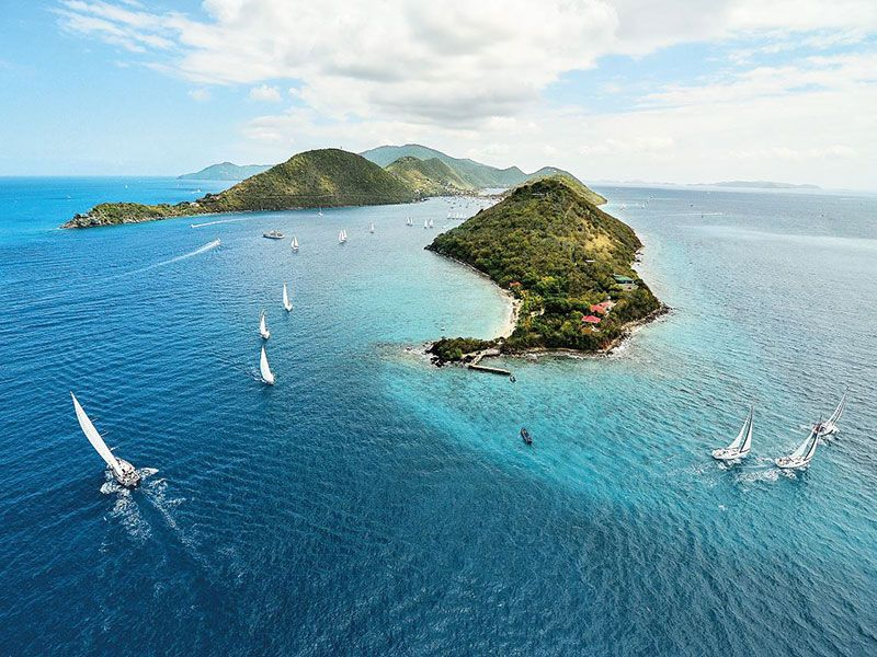 Sailing around the British Virgin Island