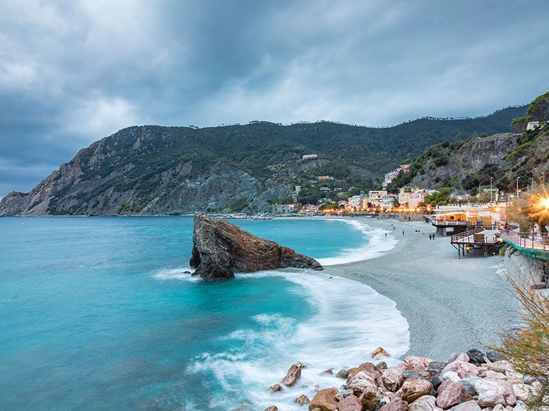 Coasts and bays in the Italian Riviera