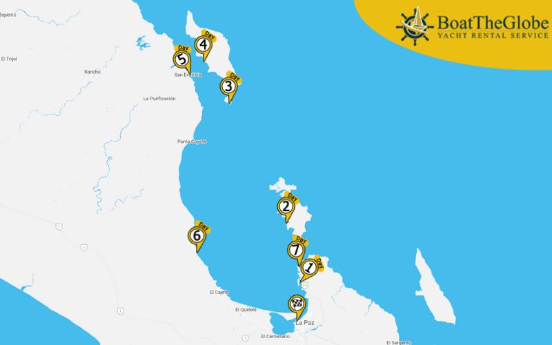 La paz yachting itinerary