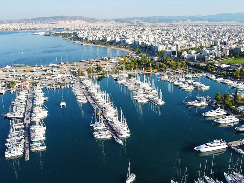 Port in Athens