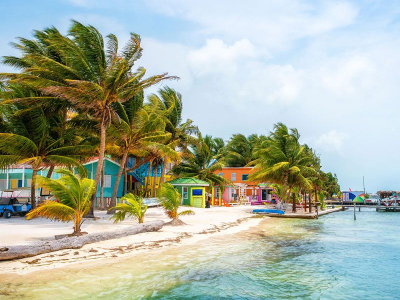 Sail in Caye caulker