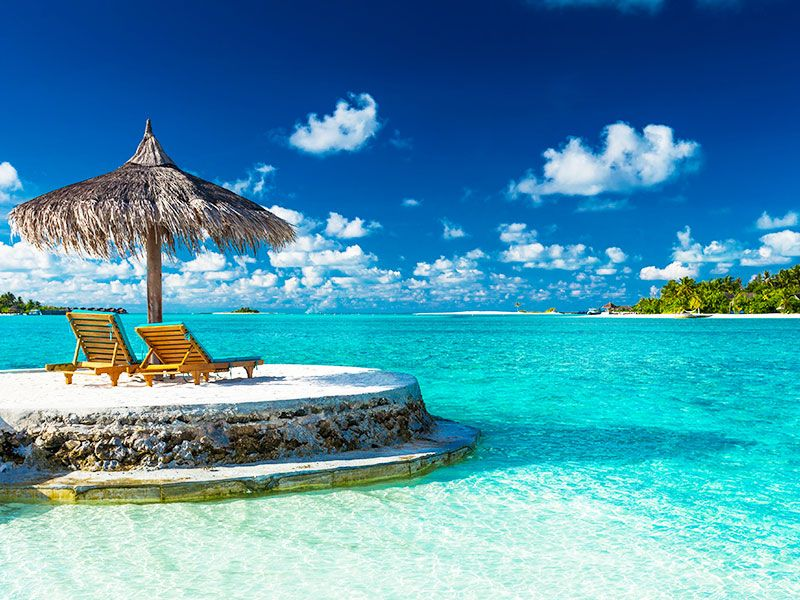 Beach of Maldives